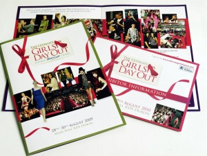 A variety of media packs and brochures for Harmonia's Ultimate Girls Day out event held in the RDS. Design by Harmonia Publishing