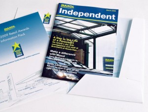 A variety of work for Maxol including the design, layout and printing of their regular A4 magazine