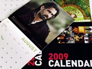 A beautifully printed 300mm square 24 page wall calendar for the Irish Film Board with gloss celloglaze on the cover. Design by iorum.ie